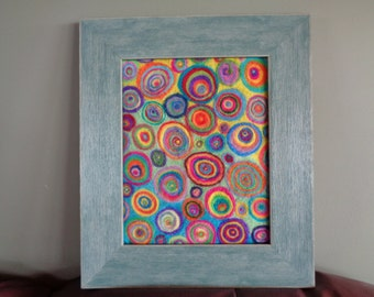Felt Art Sea of Colorful Circles
