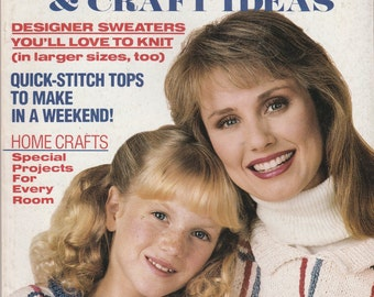 Vintage Woman's Day Super Special Magazine Sweaters Craft Ideas 1987