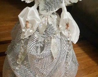 White and Silver Christmas Angel