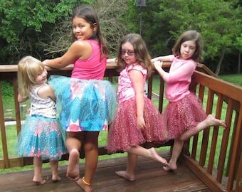 Princess Skirt - Pink & Cream Circles