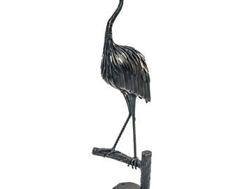 Great Blue Heron Metal Sculpture