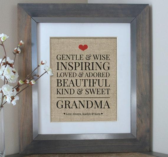 Grandma Gift From Kids Birthday Gift For By Emmaandthebean