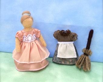 Needle Felt Cinderella Doll - Waldorf inspired