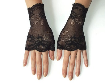 Lace Gloves\Black Lace Gloves\ Fingerless Gloves\ Fingerless Gloves\Black Gloves\Cuff Lace Gloves\Fashion gloves