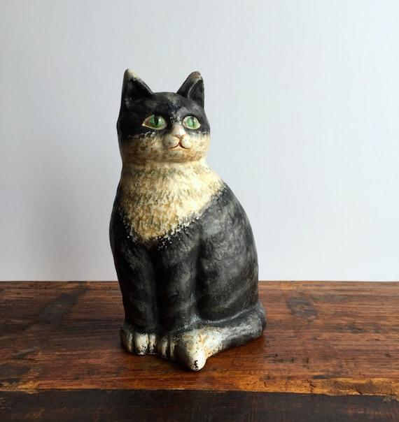 Vintage cast iron cat door stop vintage fat by honeybeehillvintage - Cast iron cat doorstop ...