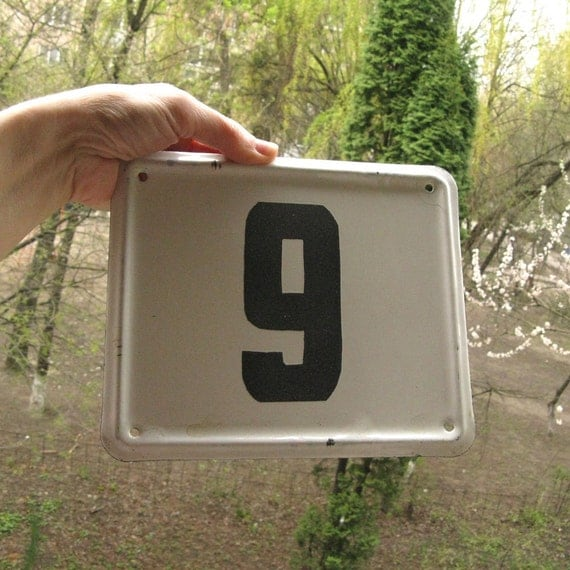Vintage house number plaque wall decor outdoor by mybootsale for Front door number plaques
