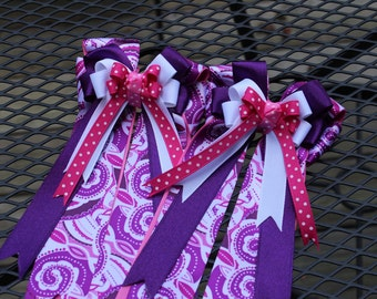Pink and Purple Swirls Show Bows