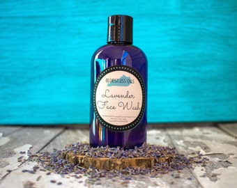Lavender Facial Cleaner - Vegan Face Wash - Organic Face Wash - Natural Facial Cleanser - Lavender Face Wash - Sensitive Skin Face Wash