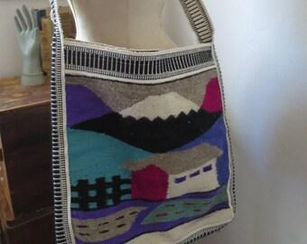 Hand Woven Honduran Folk Art Shoulder Bag Hippie Boho Crossbody Shoulder Bag