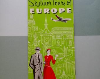 1950s TWA 'Travel in Europe' Brochure