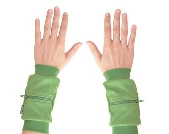 Wrist Zips | Wrist Wallet Cuffs | Kiwi/Grass Green