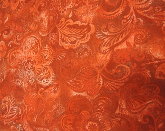 "108"" Red floral Backing fabric. 108 inch wide cotton quilt quilting sheeting Classic Cottons"