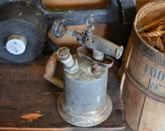 Antique Hand Blow Torch Steampunk Industrial!