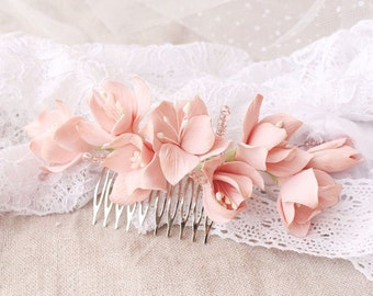 Bridal Flower Comb, Wedding Hair Piece, Bridal Hair Accessories, Floral Comb, Flower Jewelry