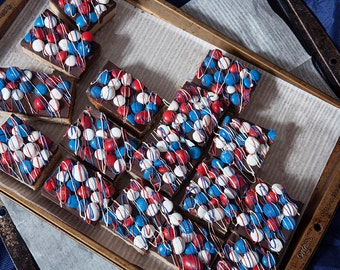 Red, White and Blue Candy Bar Cookies