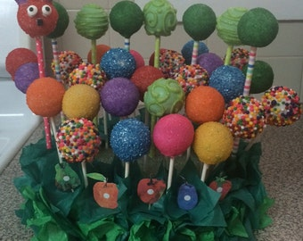 Very Hungry Caterpillar Cake Pops