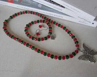 Butterfly Jewellery Set, 3 Piece Jewellery Set, Bridesmaid's Gift