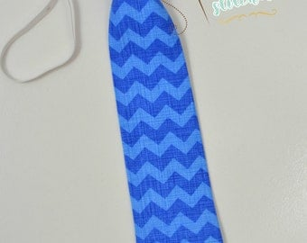 Little Man neck tie | boys tie | photo prop | blue tie | chevron tie
