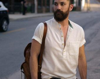 XL - Short Sleeve Button-down Shirt - Gulshan Men's Popover