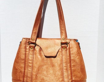 Metalic Copper Harriet Handbag