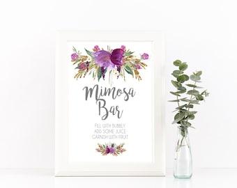 printable mimosa sign Mimosa bar sign, mimosa sign, bridal shower mimosa sign, mimosa bar signage, Brunch mimosa sign, mimosa bar printable,