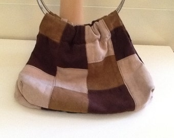 Vintage Giannini Patchwork Suede Purse