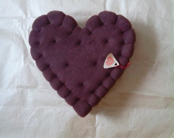 Heart cookie Pillow// Love// Chocolate//gift for her//Fanart Pillow//Made to order