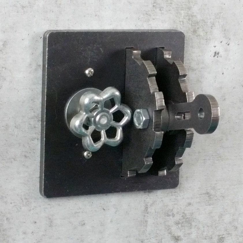 dimmer light switch cover gear lever steel urban. Black Bedroom Furniture Sets. Home Design Ideas