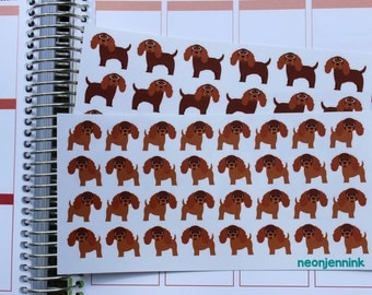 Ruby King Charles Spaniel Sticker Set