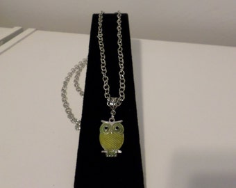 Owl Necklace - Yellow