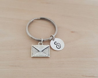 Envelope Keychain - Personalized Key chain - Initial Key Chain - Custom Key Chain - Personalized Gift - Gift for Him / Her