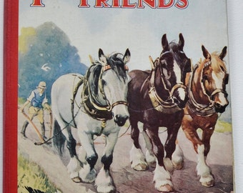Farmyard Friends Vintage Children's Book illustrated by A.Kennedy
