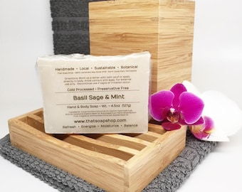 Basil Sage and Mint- Shea Butter & Jojoba Soap