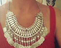 Boho Chic Gypsy Bohemian Turkish Coin Necklace Coachella