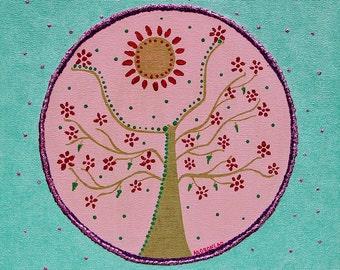 """Tree"""" Mandala painting Original"""