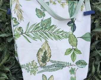 Leaves and Denim. Market Tote Bag. no42.