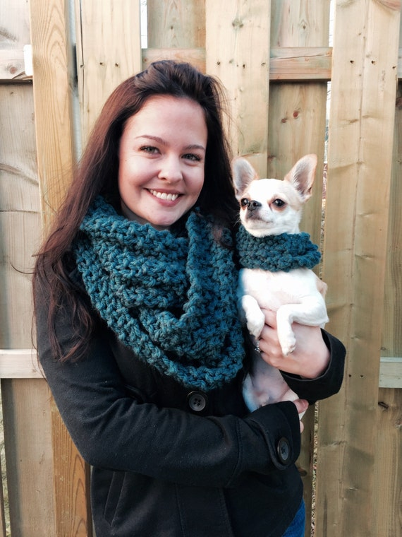 dog and owner matching infinity scarves by chicchihuahua on etsy. Black Bedroom Furniture Sets. Home Design Ideas