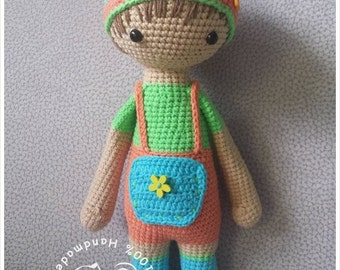 Jack The Gardener amigurumi crochet pattern, crochet doll