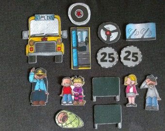 Wheels On The Bus Felt Board Story // Flannel Board // Imagination // Children // Classic Story // Song // Circle Time