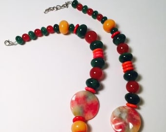 Watermelon Jade, Yellow and Green Jade Rondell beads and more