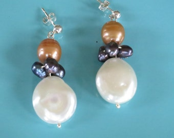 Full Moon Pearl Earrings