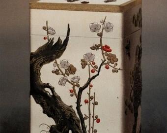 1884 original print - Boite japonaise laqué Sakura - Japanese lacquered box with Sakura - Extremely rare - Thiers au Louvre