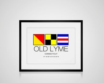 """Old Lyme Download Art For You To Print Image Sized To 8"""" x 10"""" Connecticut Beach Coastal Decor Home"""
