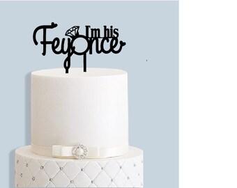 Engagement Cake Topper