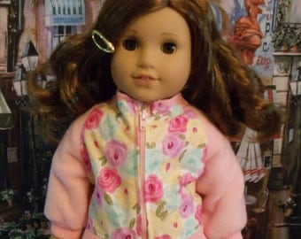 Girly Floral Jacket for American Girl Doll