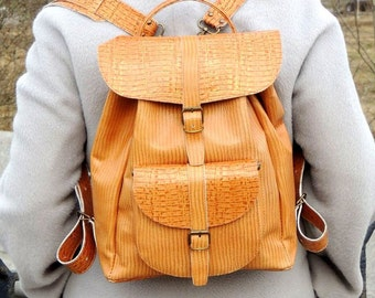 """Yellow-brown backpack """"Straw"""""""