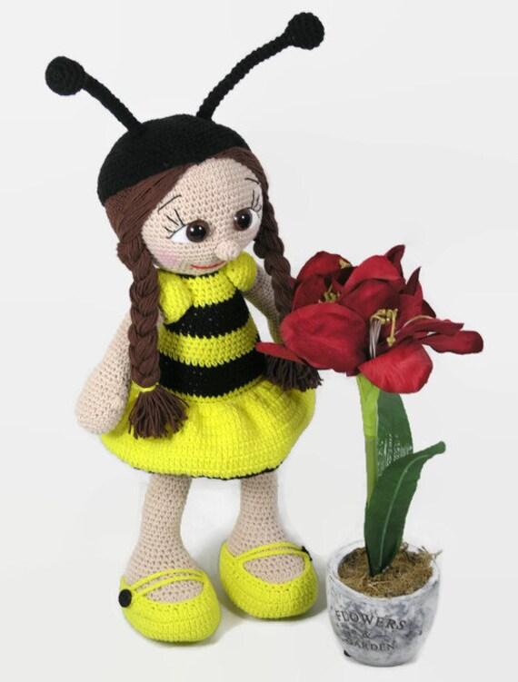 Items similar to Crochet bee doll, amigurumi doll, Bee ...