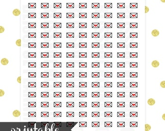 Sealed With A Heart Envelope Printable Planner Stickers (Instant Download)