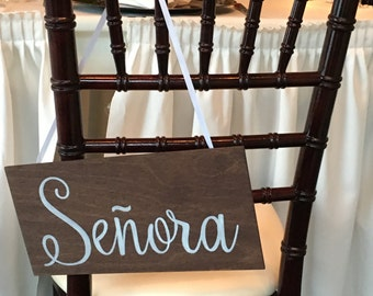 Senor & Senora Chair Signs, Mr and Mrs Chair Signs, Wedding Chair Signs, Better Together Chair Signs, Bride and Groom Chair Signs