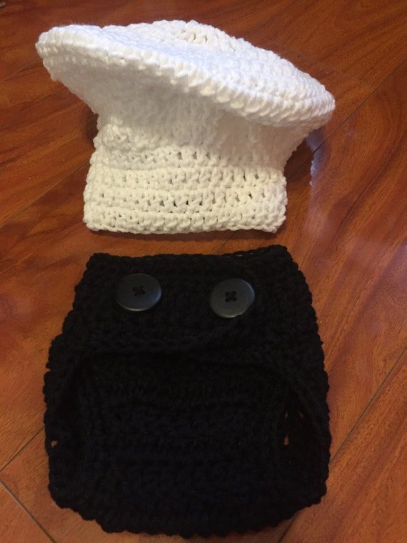 Crochet Baby Chef Hat Pattern Free : Crochet Baby Chef Costume